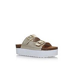KG Kurt Geiger - Gold 'Bettie' flat sandals
