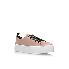 KG Kurt Geiger - Pink 'Ginny' flat lace up sneakers