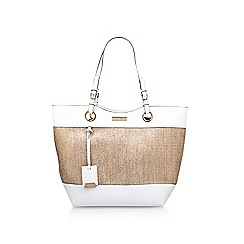 Carvela - Gold 'Lucinda Weaved Shopper' tote bag
