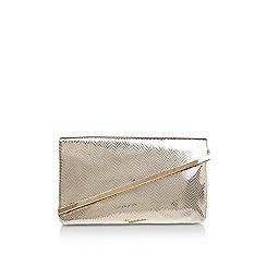 Miss KG - Gold 'Hallie' clutch bag