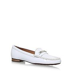 Carvela Comfort - White 'Charlotte' flat slip on loafers
