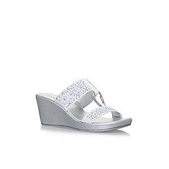Carvela Comfort - White salt high heel sandals