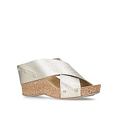 Carvela Comfort - Gold 'Sooty' mid heel wedge sandals