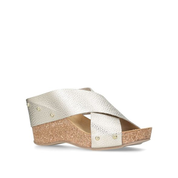 Carvela Comfort 'Sooty' mid sandals wedge heel Gold TTOqzr