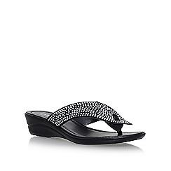 Carvela Comfort - Black 'Sunny' mid heel wedge sandals
