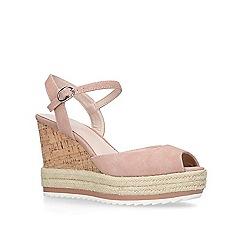 Nine West - Nude 'Debi' high heel wedge sandals