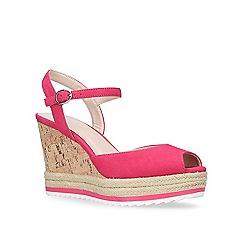 Nine West - Pink 'Debi' high heel wedge sandal