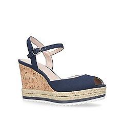 Nine West - Navy 'Debi' high heel wedge sandal