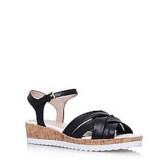 Nine West - Black 'Leoni' flat sandals