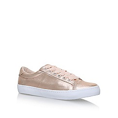 Miss KG - Grey 'Lotus' flat lace up sneakers
