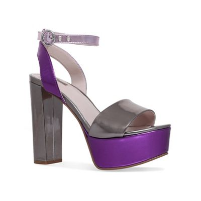 Carvela - Metallic 'Geranium' high heel sandals