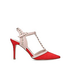 Carvela - Red 'Kankan' Suedette Studded Court Shoes