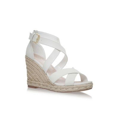 Carvela - White Smashing high heel wedge sandals