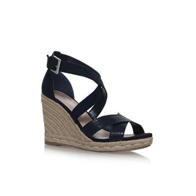 18000f3b82099c Carvela - Blue Blue Smashing high heel high wedge wedge sandals a836950