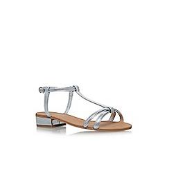 Carvela - Silver 'Bravo' flat sandals