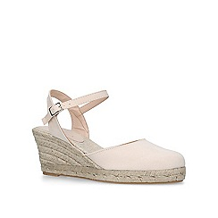 Carvela - Nude 'Sabrina 2' mid heel wedge sandals