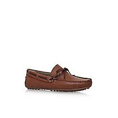 KG Kurt Geiger - Brown 'Leven' flat slip on loafers