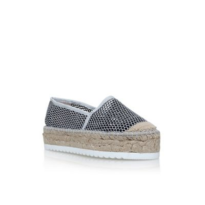 Carvela - Silver 'Krowd' flat slip on sneakers