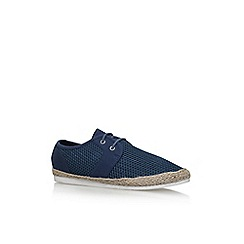 KG Kurt Geiger - Blue loughton flat lace up sneakers
