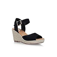 Miss KG - Black 'Paisley' high heel wedge sandals