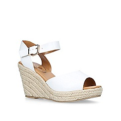 Miss KG - White 'Paisley' high heel wedge sandals