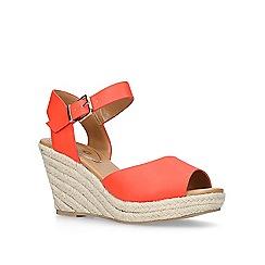 Miss KG - Orange 'Paisley' high heel wedge sandals