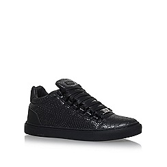 KG Kurt Geiger - Black 'Malone' flat lace up sneakers
