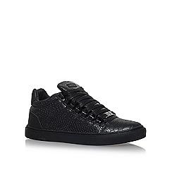 KG Kurt Geiger - Black 'Malone' flat lace up sneakers