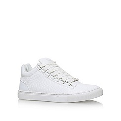 KG Kurt Geiger - White 'Malone' flat lace up sneakers