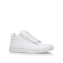 KG Kurt Geiger - White 'Malone' flat lace up sneakers