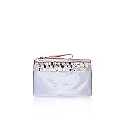 Miss KG - Grey halo clutch bag
