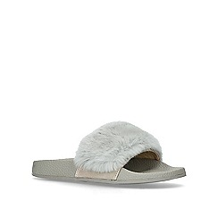 Carvela - Grey 'Koat' vamp strap sliders