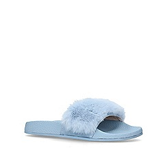 Carvela - Blue 'Koat' vamp strap sliders