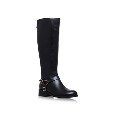 Carvela   Black 'petra Wide Fit' Mid Heel Knee Boots by Carvela