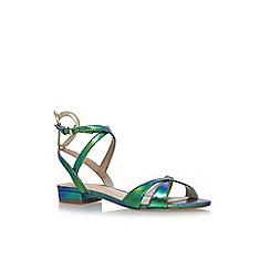 KG Kurt Geiger - Green 'Mina' flat sandals
