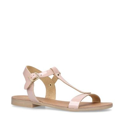 Nine West - Nude 'Felix' flat sandals