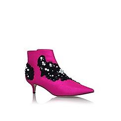KG Kurt Geiger - Pink 'Rokka' high heel ankle boots