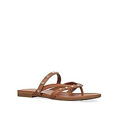 KG Kurt Geiger - Tan 'Modena' flat sandals