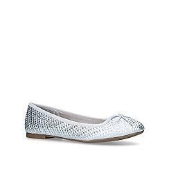Miss KG - Silver 'Nellie' flat ballerina shoes