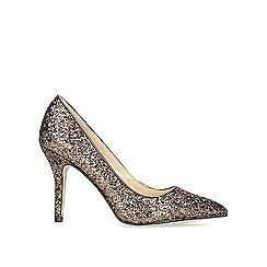 Nine West - Metallic 'Flagship' bronze high heel court shoes