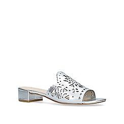 Nine West - Silver 'Rownda' slip on sandals