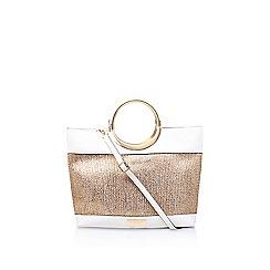 Carvela - Gold 'Rosie Metal Handle Bag' tote bag
