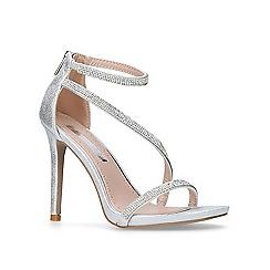 Miss KG - Silver 'Dutchess' high heel sandals