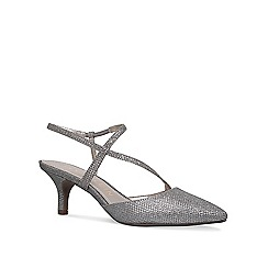 Anne Klein - Silver 'Ferdie' mid heel court shoes