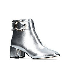 KG Kurt Geiger - Silver 'dilly' high heel ankle boot.