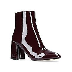KG Kurt Geiger - Red 'Dollar' high heel ankle boots