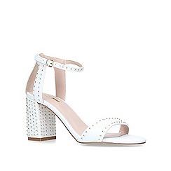 Carvela - White 'Gogo' mid heel sandals