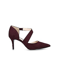 Nine West - Wine 'Kremi' mid heel court shoes