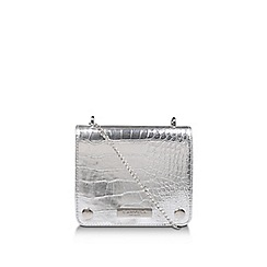 Carvela - Silver 'Rhonda Evening Box Bag' clutch bag