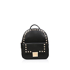 Carvela - Black 'Rower Stud Backpack' studded backpack